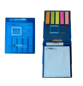 PLASTIC MEMO PAD WITH PEN+CALENDAR