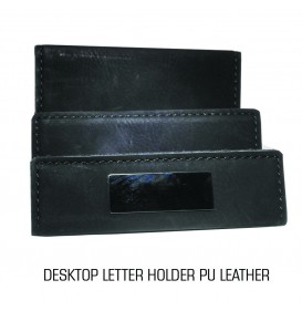 DESKTOP LETTER HOLDER PU LEATHER