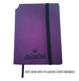NOTE BOOK WITH PU LEATHER COVER ENGRAVED