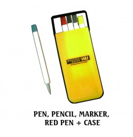 PEN, PENCIL, MARKER,  RED PEN + CASE