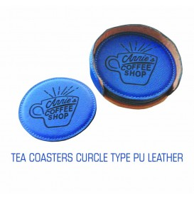 TEA COASTERS PU LEATHER R