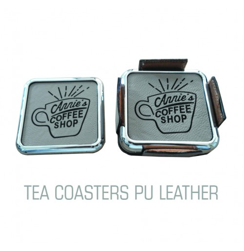 TEA COASTERS PU LEATHER