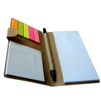 HARD BOARD COVERED MEMO PAD+STICKY NOTE+BOOK MARKER
