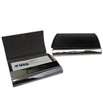 STAINLESS METAL WITH LEATHER VISITING CARD HOLDERS