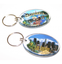 ACRYLIC OVAL SHAPE KEY TAG
