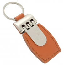 LEATHER + METAL KEY TAG